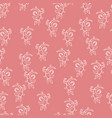 floral seamless pattern hand drawn art vector image