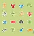 football icon set vector image