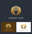 fork gold company logo vector image vector image