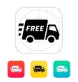 free delivery support icon vector image