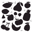 fruits and vegetables silhouettes vector image