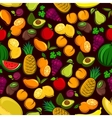 Fruits seamless pattern background vector image vector image
