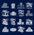 futuristic buildings set modern architecture vector image