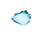 Glass shard cobalt vector image vector image