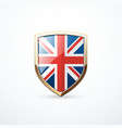 gold england shield vector image