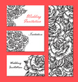 Hand Drawn Wedding Rose Invitation vector image vector image