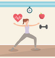 health fitness cartoon vector image