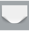 Horizontal empty paper sheet vector image