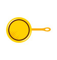kitchen pan isolated icon vector image vector image