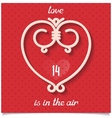 love design card for 14 february vector image vector image