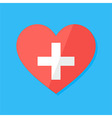 medical heart flat stylized sign vector image