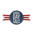 Memorial Day Sale festive Sign and Ribbon vector image vector image