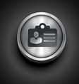 metallic identity card vector image