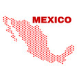 mexico map - mosaic of valentine hearts vector image vector image
