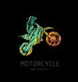 motorcycle creati grunge silhouette vector image vector image