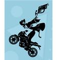Motorcycle gang vector image vector image