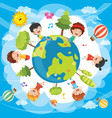 of world kids vector image vector image