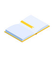 offline education isometric with book classic vector image