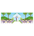 outdoor marriage celebration in park happy vector image vector image