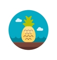 Pineapple flat icon vector image vector image