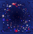 red blue stars flying stars confetti vector image vector image