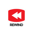 rewind video graphic icon design template vector image