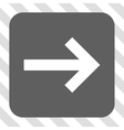Right Arrow Rounded Square Button vector image vector image