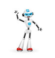 robot waving hello isolated on white background vector image