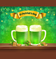 saint patricks day beer composition vector image vector image