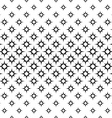 Seamless monochrome octagram star pattern vector image