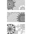 set of black and white cards vector image vector image