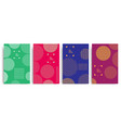 set of colored covers with circles and different vector image vector image