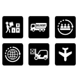 set of six icons for delivery vector image vector image