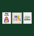 sheets notebook with back to school message vector image