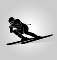 silhouette skiers vector image vector image