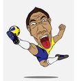 soccer player Sweden vector image