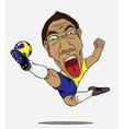 soccer player Sweden vector image vector image