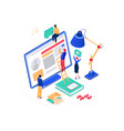 social media marketing - modern colorful isometric vector image