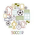 Sports background with soccer football symbols vector image vector image