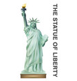 statue liberty on white background vector image vector image