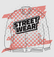 street wear fashion 90s casual urban style vector image