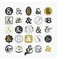 Stylized Ampersand sign and symbol design elements vector image vector image