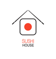 Sushi house idea vector image