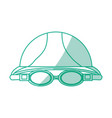 swimming cap and glasses vector image vector image