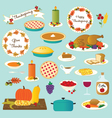 thanksgiving food vector image vector image