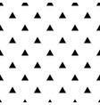 tile pattern with black triangles on white vector image vector image