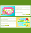 today discount 30 off sdvertisement stickers sale vector image vector image