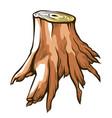 tree stump sketch wood stub remaining portion of vector image