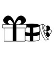 two gift boxes vector image