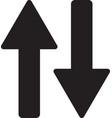up down arrow icon down arrow icon vector image